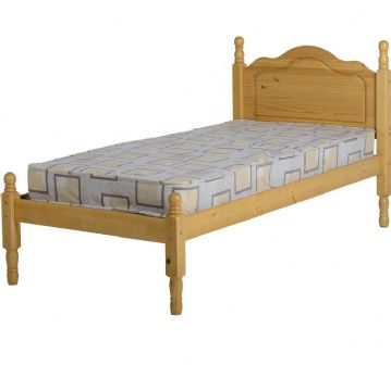 Sol Low Footend Single Bedframe (3Ft) - Pine